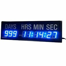 Large Countdown Clock Event Timer 1.8'' Blue LED Count Down/Up Day Hrs Mins Secs