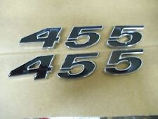 PONTIAC 455 ENGINE ID FENDER HOOD SCOOP QUARTER TRUNK EMBLEMS - BLACK