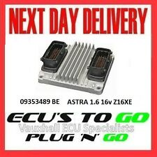 VAUXHALL /OPEL ECU ASTRA  ECU 1.6 PLUG N PLAY ENGINE CODE Z16XE 09353489 BE