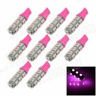 10X Pink T10 13 SMD 5050 LED Car Clearance Indicator Lamp Side Light Bulb A012