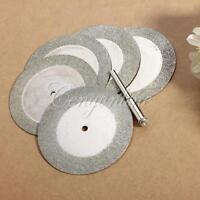 5pcs 50mm Diamond Cutting Discs & Drill Bit For Rotary Tool Dremel Glass Metal