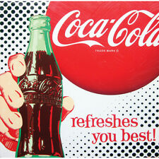 "COCA COLA BOTTLE Classic Art 15x15"" canvas Wall Art Wood Frame 1950's Art WOW"