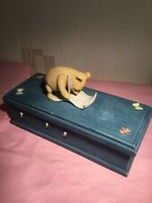 Winnie The Pooh Border Fine arts pencil case figurine ornament
