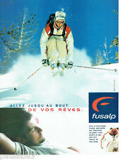 PUBLICITE ADVERTISING 056  2001  Fusalp   vetements de ski