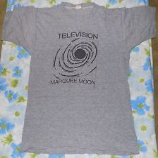 VTG 1970s Television Marquee Moon Gray Men's T-shirt sz M 70s Punk Rock