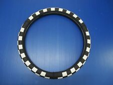 "15""38cm Silicone Black/White Checkered Style Vehicle Car Steering Wheel Cover"
