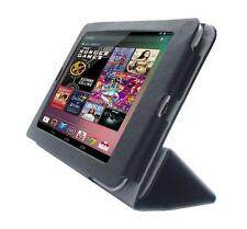 for Google Nexus 7 Tablet 1st Gen PU Leather Folio Skin Cover Case, Black