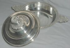 EXQUISITE SILVERPLATE CHRISTOFLE FRANCE COVERED VEGETABLE DISH BOWL 2 PCS 13""