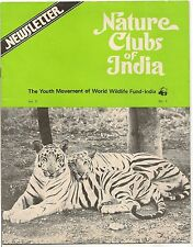 Nature Clubs of India WWF World Wildlife Fund India 1980 issue about TIGERS