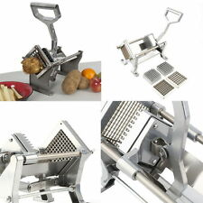 Potato French Fry Fruit Vegetable Cutter Slicer Commercial Quality 4 Blades US #