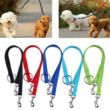 Double Ended Dog Lead For 2 Dogs 2 Way Coupler Leash Duplex Walking Reflective