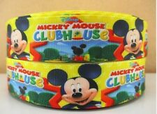 "BTY 1"" Disney Mickey Mouse Clubhouse Grosgrain Ribbon Hair Bows Lanyards Lisa"