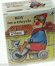 Kovap Tinplate Toys - Boy on a Tricycle - Large Windup Collector Quality  Model
