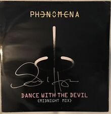 "Glenn Hughes Autographed Phenomena ""Dance with the Devil"" 12"" Import Single"