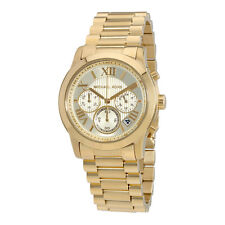 Michael Kors Cooper Chronograph Gold Dial Gold-Tone Ladies Watch MK6274