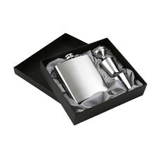 7oz Stainless Steel Pocket Hip Flask Funnel Cups Set Drink Bottle Gift New JL