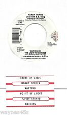 B.B. KING & RANDY TRAVIS * 45 * Waiting On The Light To Change * 1990 * UNPLAYED