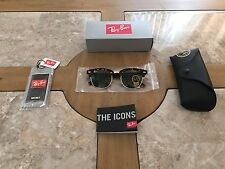 New Genuine Ray-Ban Clubmaster Sunglasses RB 3016 W0366 Tortoise 51mm