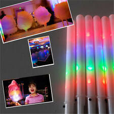 50pcs/lot LED Cotton Candy Cone Fairy Floss Sticks For child Party 11X0.69inches