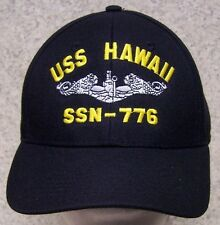 Embroidered Baseball Cap Military Navy USS Hawaii NEW 1 hat size fits all