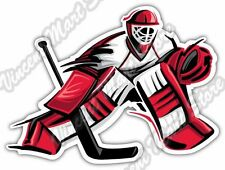 Ice Hockey Goalkeeper Goaltender Goalie Puck Car Bumper Vinyl Sticker Decal 5X4""