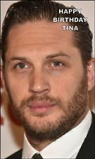 A5 TOM HARDY FILM STAR EDIBLE ICING BIRTHDAY CAKE TOPPER
