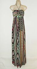 T-Bags Los Angeles S 2 4 Maxi Dress Braided Halter Knit Stretch Boho Mod Small