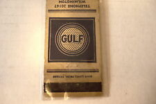 "GULF  MATCHBOOK COVER 4 3/4"" X 1 1/2 ""  PRE-OWNED."