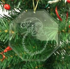 Personalized Crystal Glass Ornament Santa Christmas Custom Gift