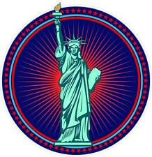 "#995 (1) 3.5"" Statue Of Liberty USA AMERICA Decal Sticker Laminated USA"