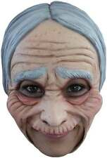Old Lady Mask Open Mouth Easy Drink Eat Halloween Latex Adult Mask