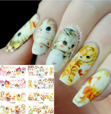4 Patterns/Fiche Ongles Water Decals Nail Art Stickers Transferts Autocollant