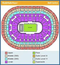 2 or 4 RED HOT CHILI PEPPERS tickets * row B * CENTERED SEATS * Montreal * 6/20