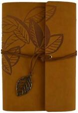 Brown Leaf Leather-Bound Journal ~ Wiccan Pagan Supply