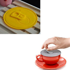 Easy-pulled Silicone Airtight Cup Cover Aealed Coffee Sea Mug Lid Cap New
