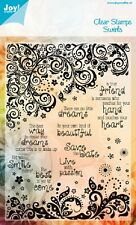 Joy Crafts  Clear Rubber Stamp Set THERE ARE NO LITTLE DREAMS 6410/0316 Reduced