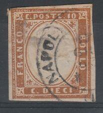 FRANCOBOLLI 1862 SARDEGNA 10 C. ARANCIO ROSSASTRO C/442
