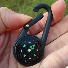 Useful Practical Convenience Outdoors Climbing Button Carabiner With Compass