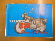 1973 Honda CB500 Factory Owners Manual