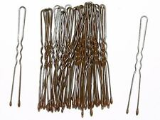 36 x 4.5cm Short Brown Waved Hair Pins Bobby Pins Grips