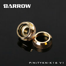 Barrow Water Cooling Compression Fitting For Rigid Tubing 14mm OD G1/4 T Gold