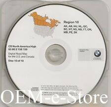 1997 to 2002 BMW 7 5 3 Series M3 M5 X5 Navigation CD Map #10 Cover Canada Map