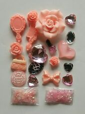 W64A Rose Comb mirror  DIY Mobile Cell Phone Case Resin Deco Den Kit
