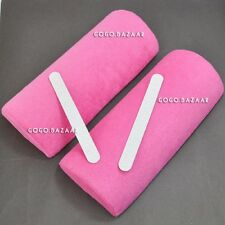 2pcs New Washable Nail Art Soft Handrest Cushion Pillow Pink Colour #287C