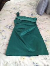 As U Wish green sexy cocktail evening party one shoulder dress size 9