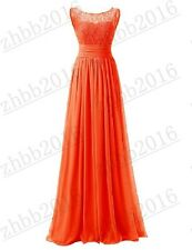Long Lace Formal Wedding Party Dresses Bridesmaid Evening Prom Ball Gown 6-22