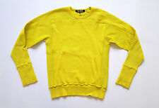 RAF SIMONS SS 2008 neon green ribbed sweater size 52 / M-L