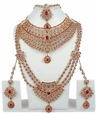 6114 Indian Bollywood Style Fashion Gold Plated Bridal Jewelry Necklace Set