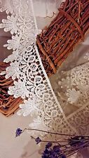 "2 Metres x 55mm/2.25"" Wide Satin Finish Guipure Lace Trim *FREE 1ST CLASS*"
