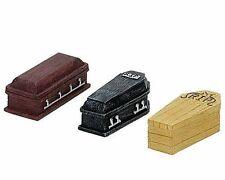 Miniature Dollhouse Fairy Garden Halloween Coffins - Set of 3 - Buy 3 Save $5
